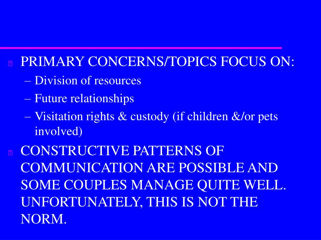 PRIMARY CONCERNS/TOPICS FOCUS ON: