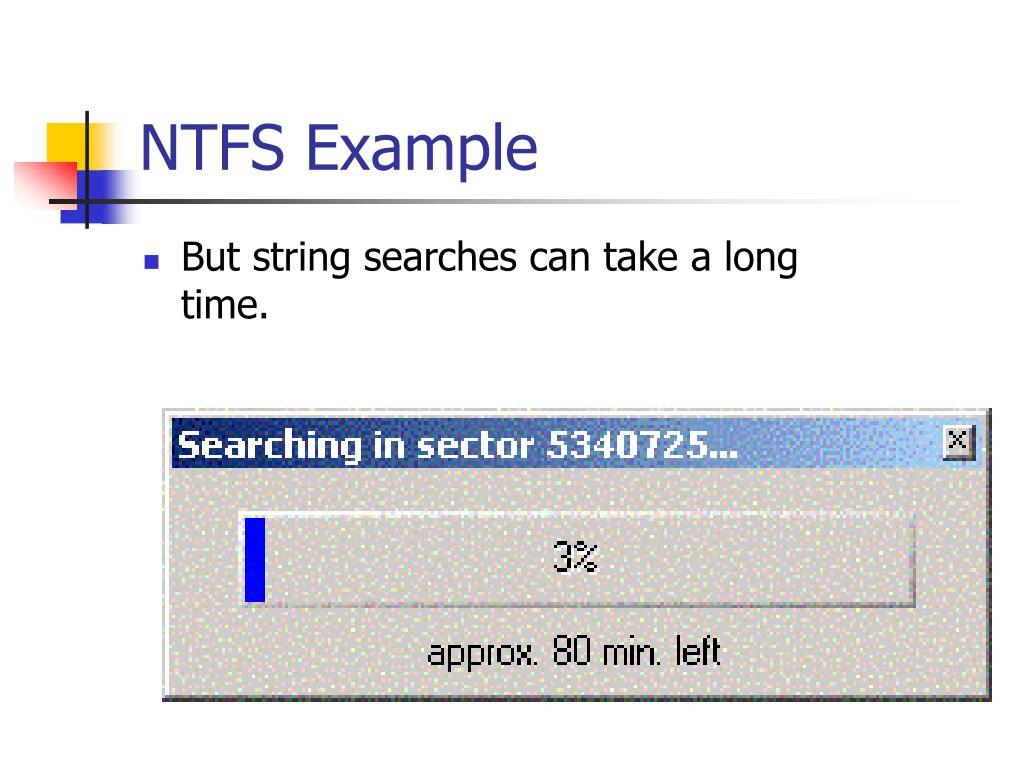 NTFS Example
