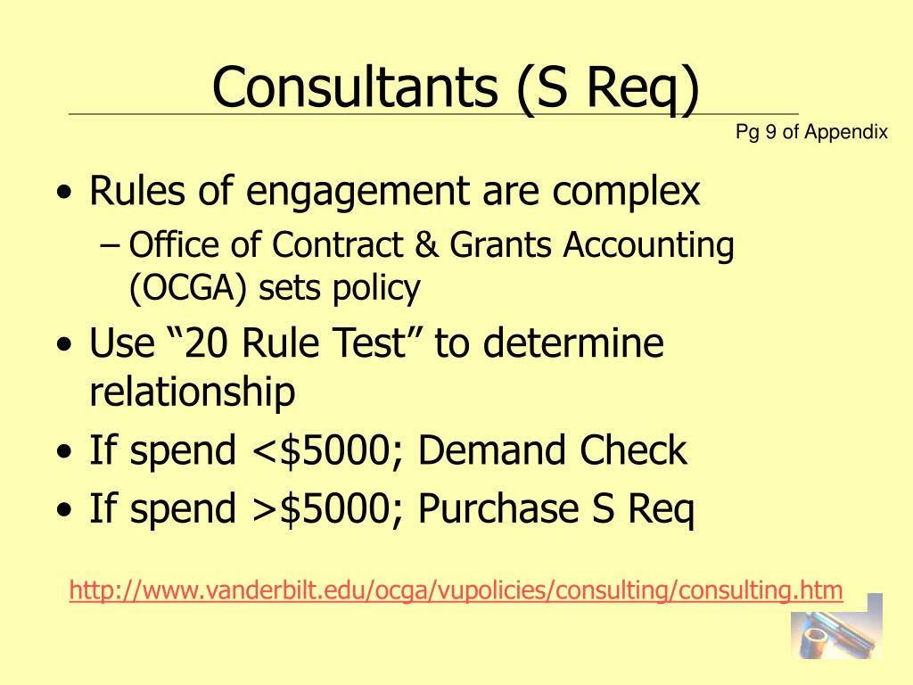 Consultants (S Req)