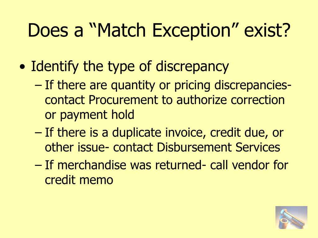 """Does a """"Match Exception"""" exist?"""
