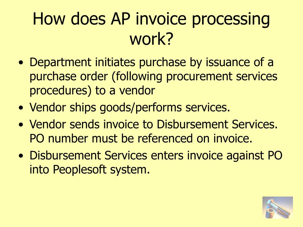How does AP invoice processing work?