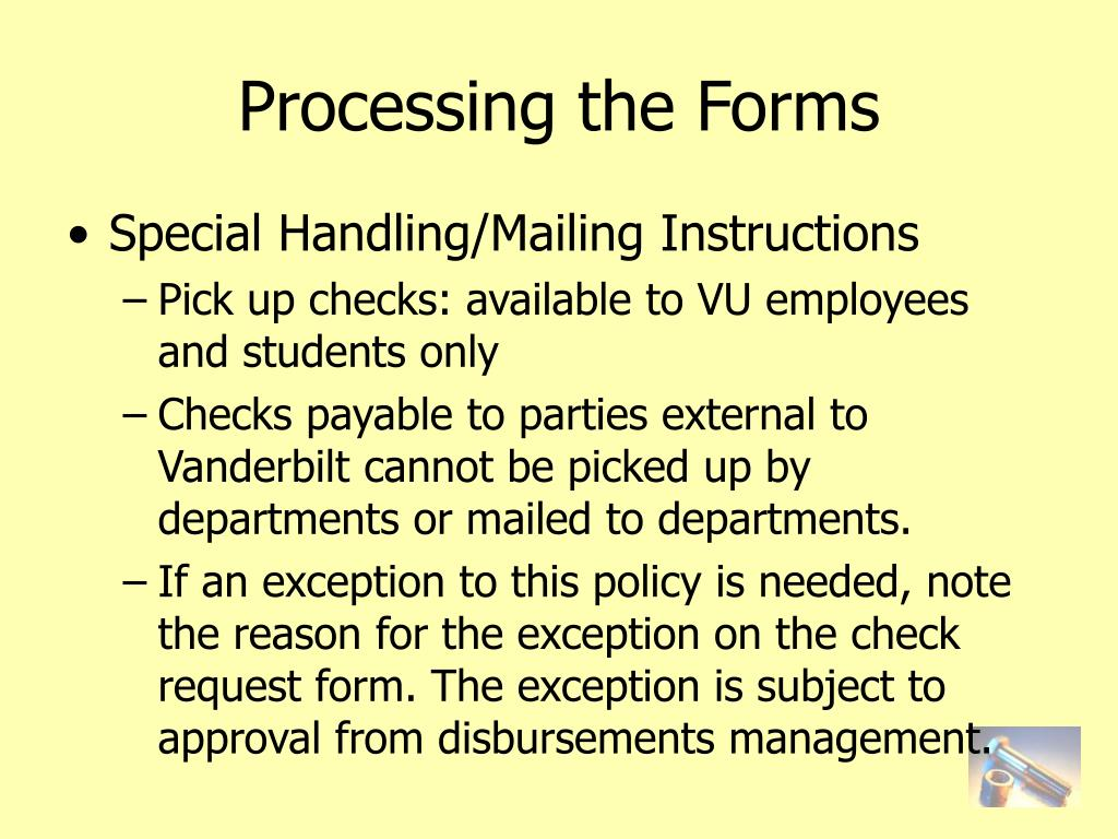 Processing the Forms