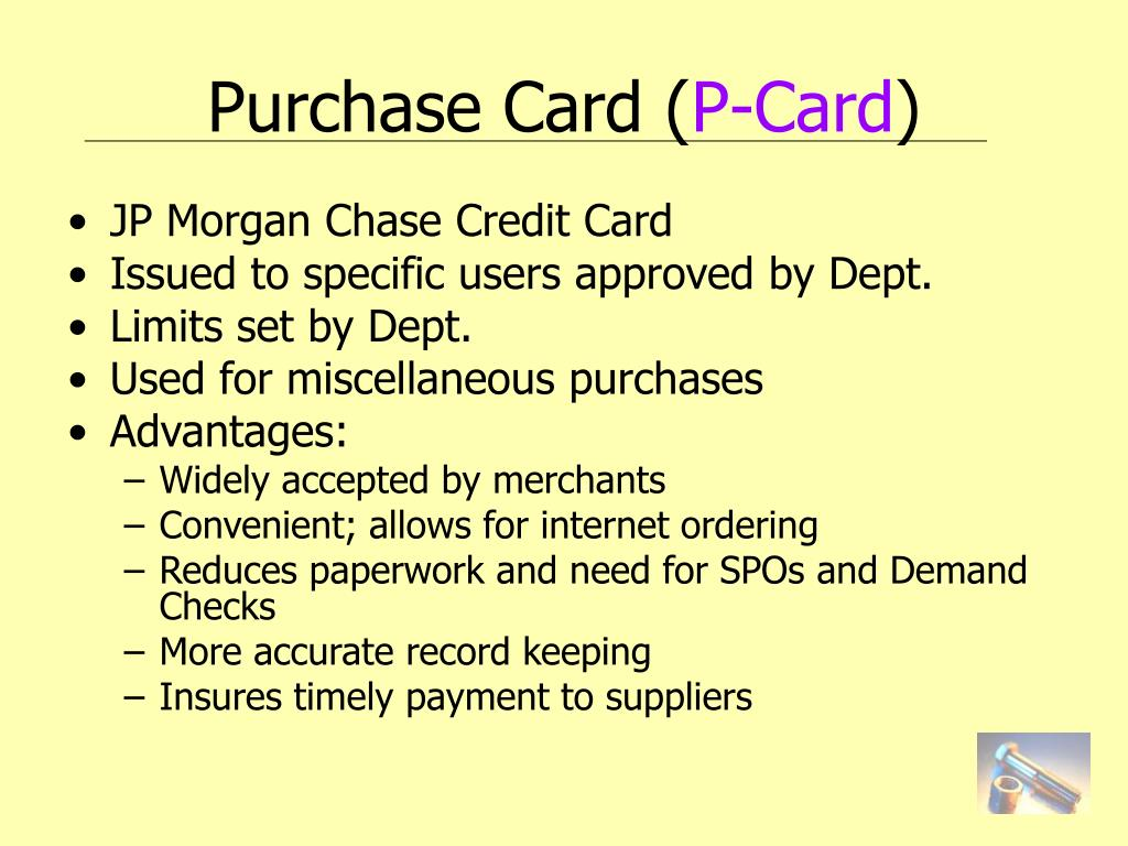 Purchase Card (