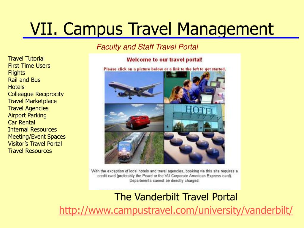 VII. Campus Travel Management