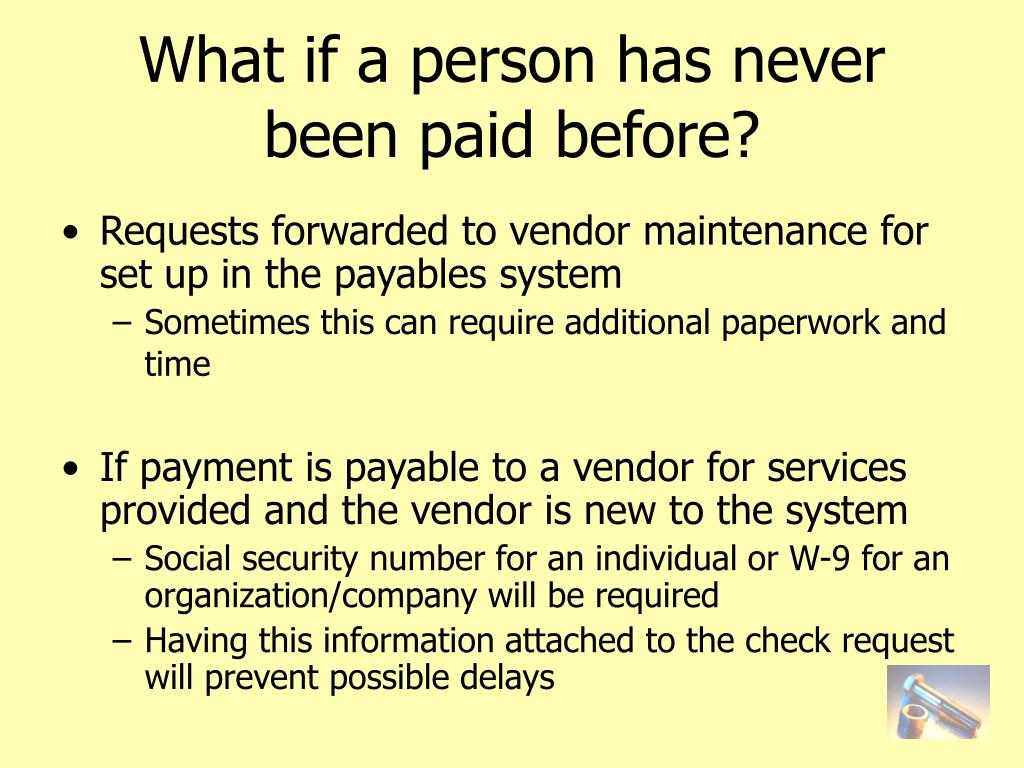 What if a person has never been paid before?