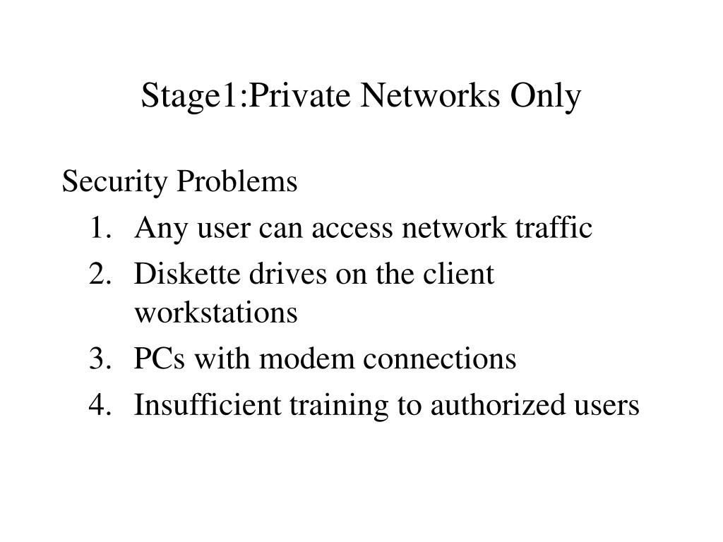 Stage1:Private Networks Only