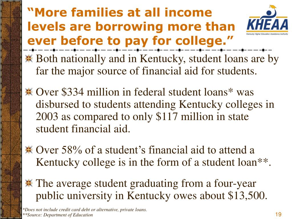 """More families at all income levels are borrowing more than ever before to pay for college."""