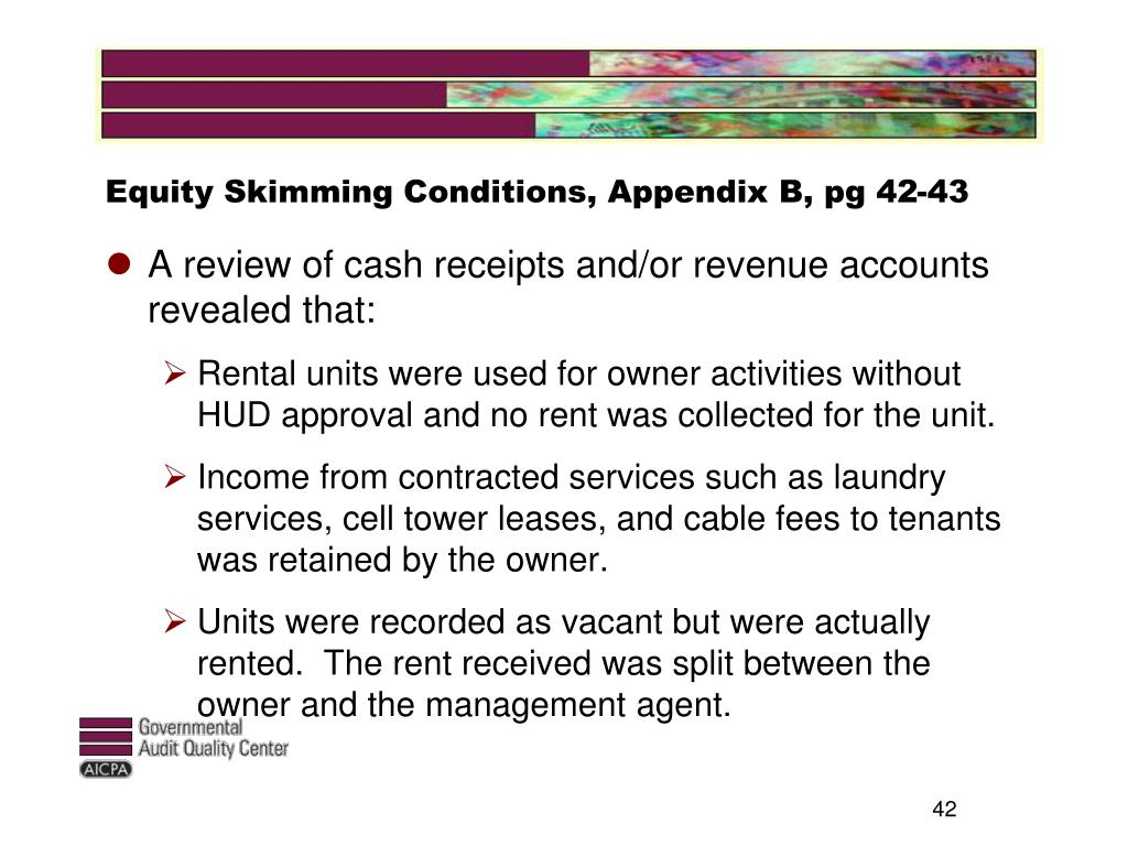 Equity Skimming Conditions, Appendix B, pg 42-43