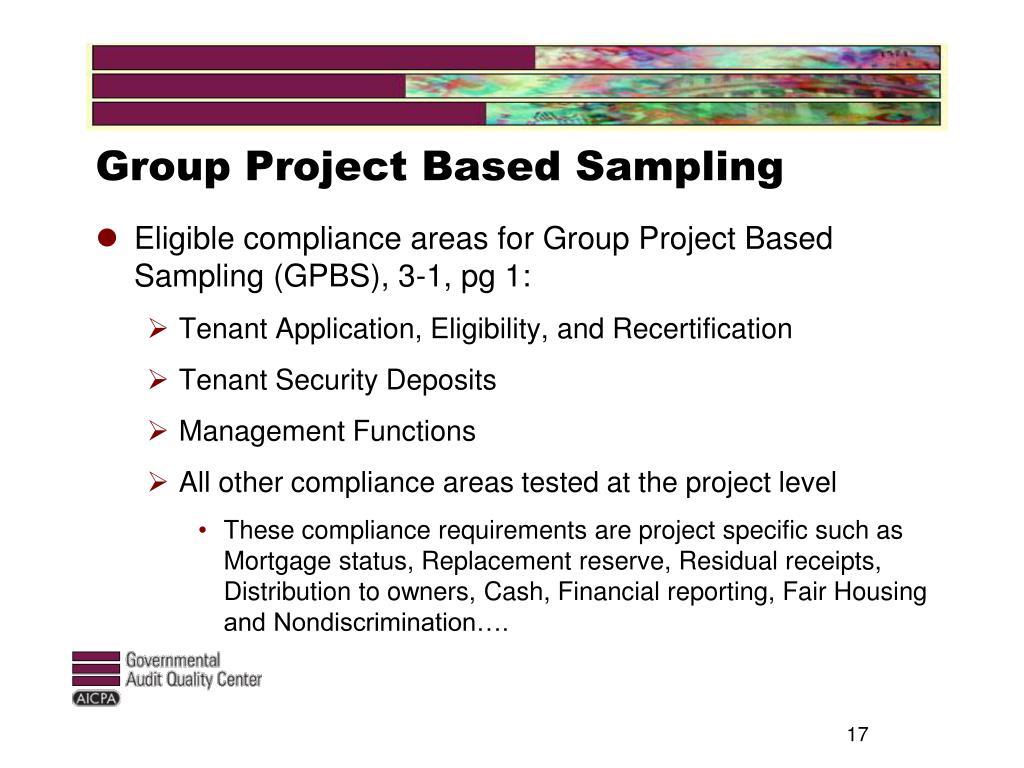 Group Project Based Sampling