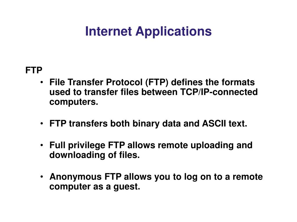 Internet Applications