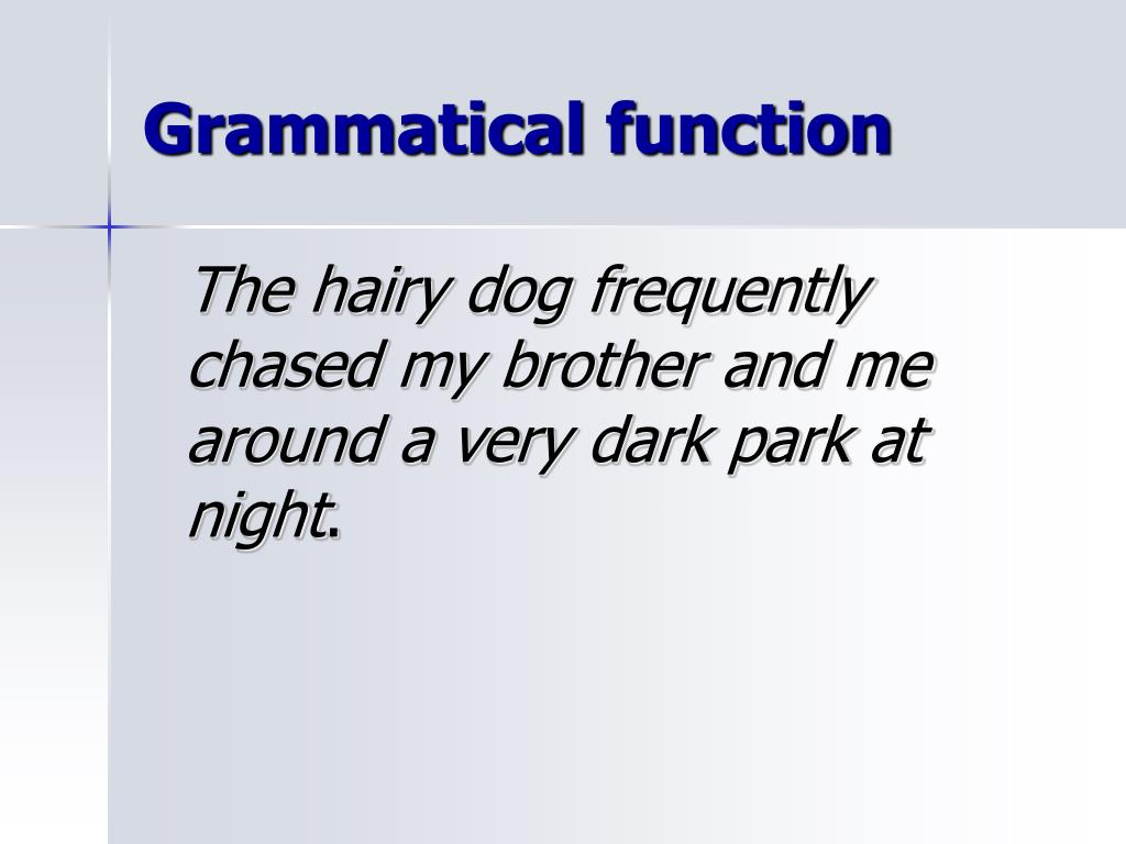 Grammatical function