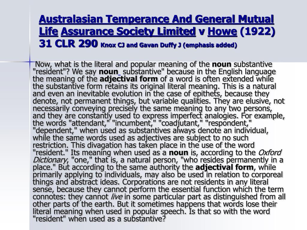 Australasian Temperance And General Mutual Life