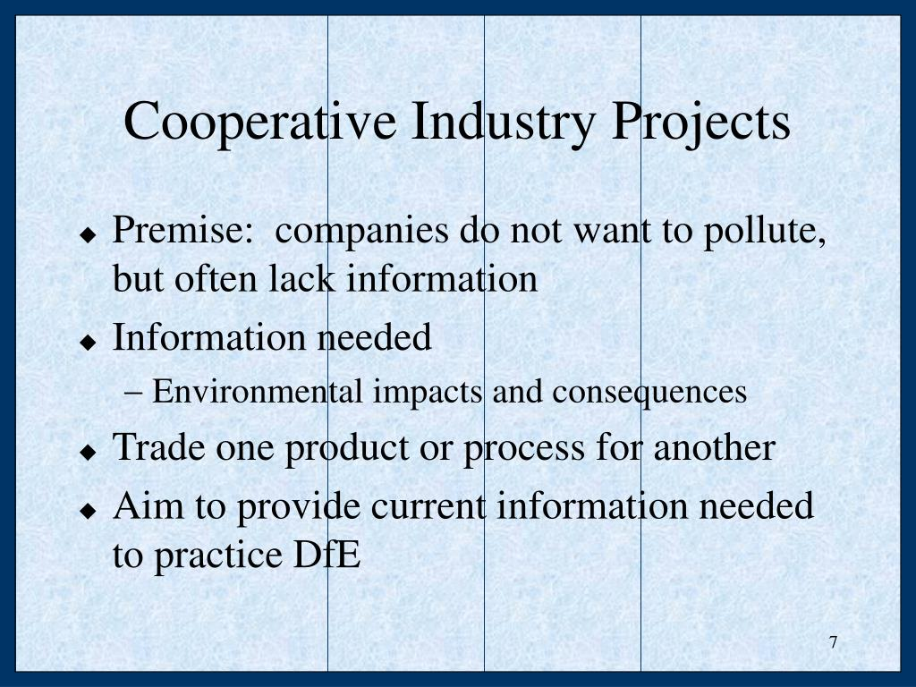 Cooperative Industry Projects