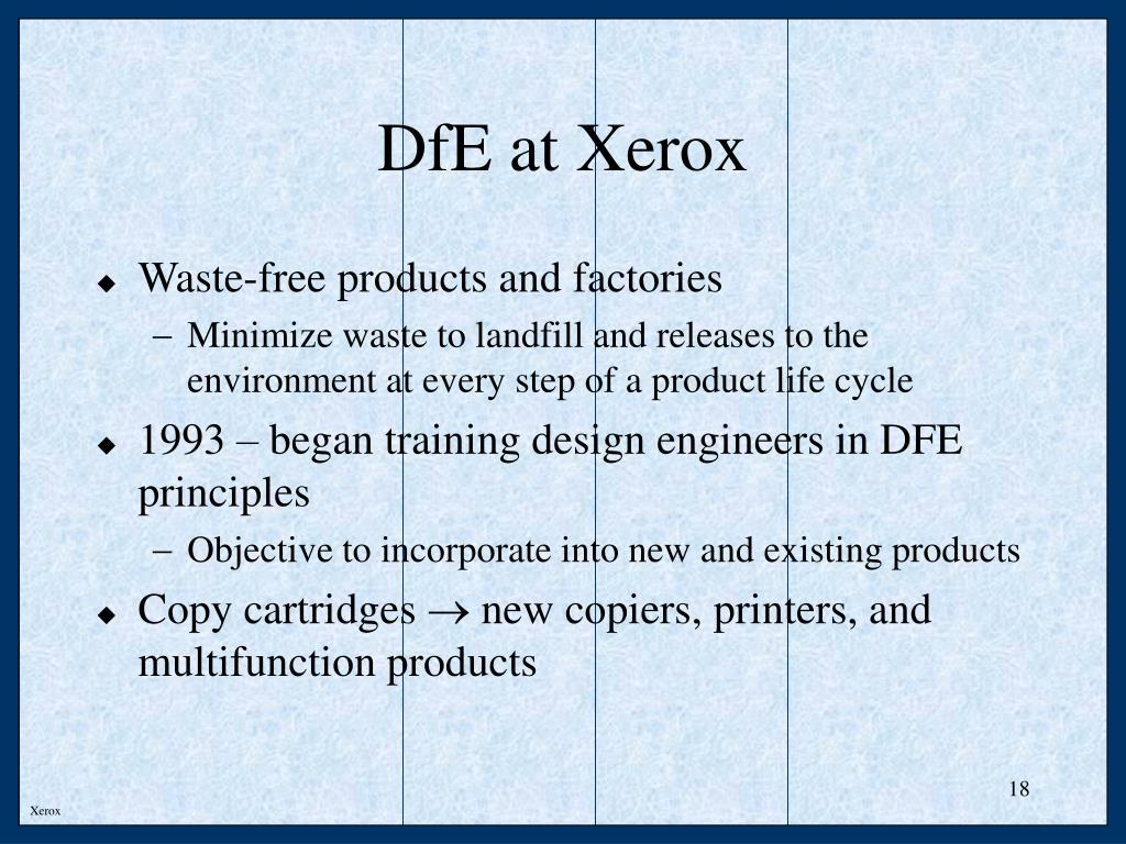 DfE at Xerox