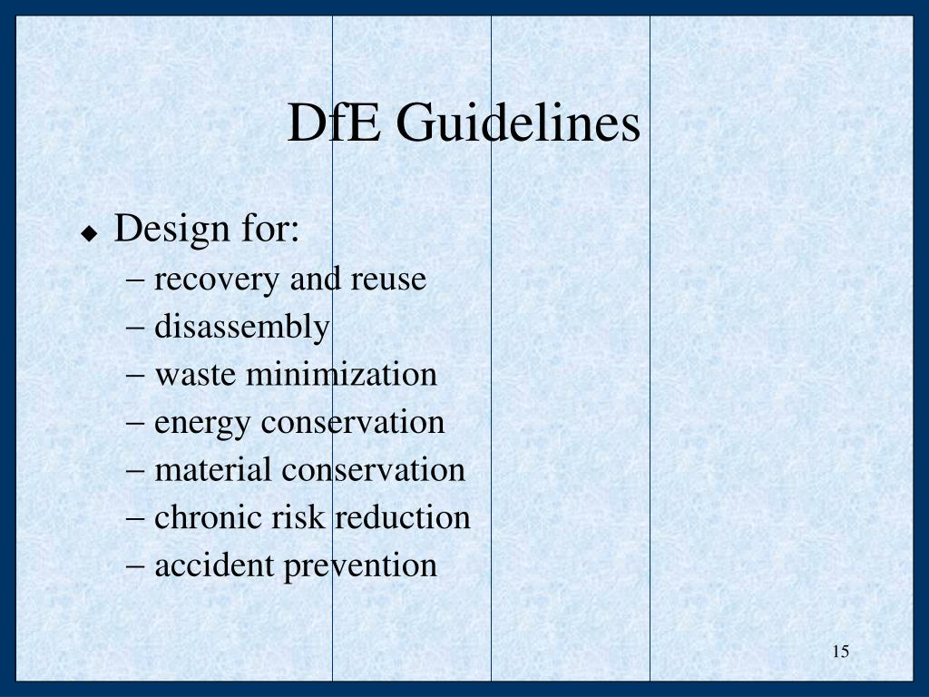 DfE Guidelines