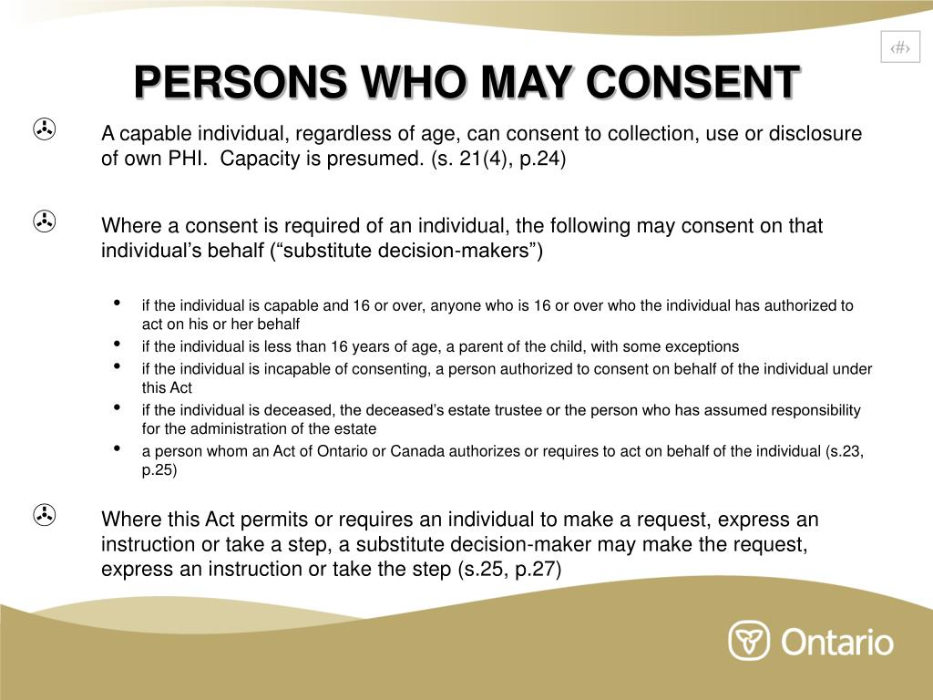 PERSONS WHO MAY CONSENT