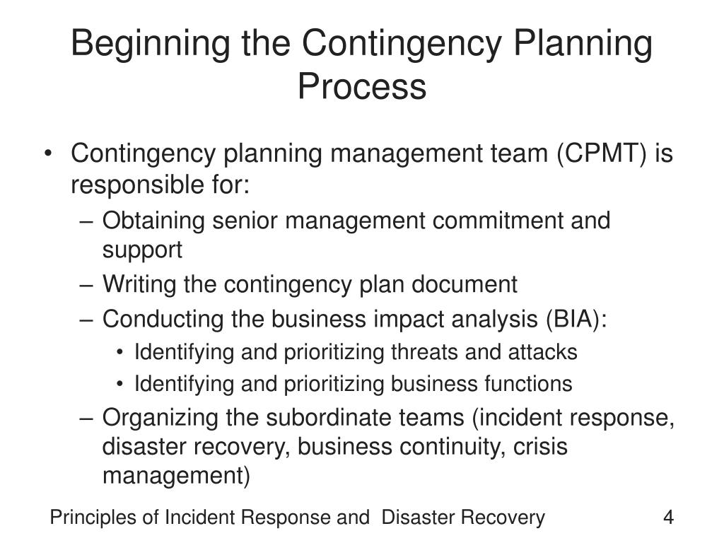 Beginning the Contingency Planning Process