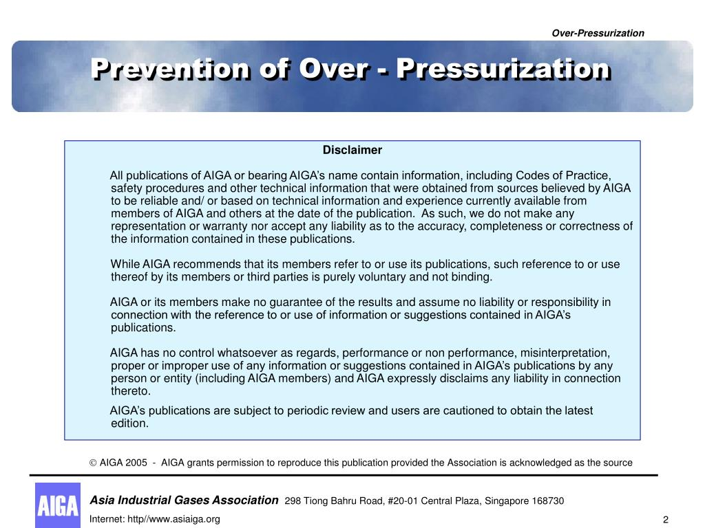 Prevention of Over - Pressurization