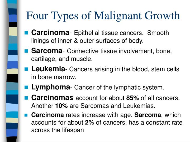 Four types of malignant growth l.jpg