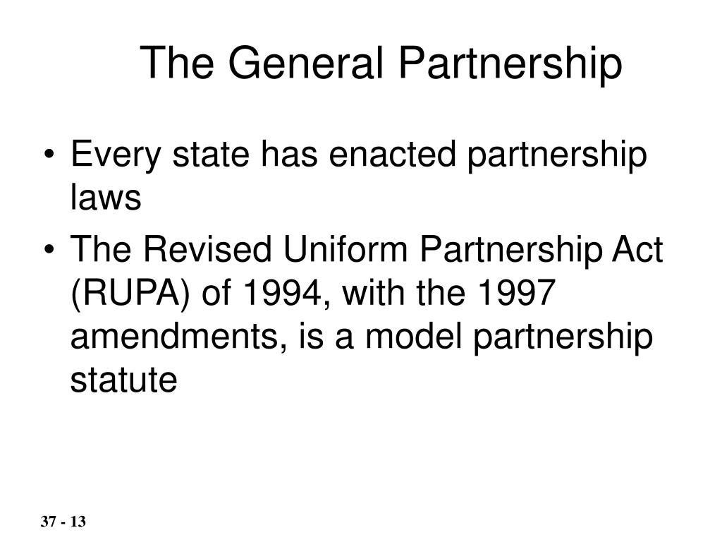 The General Partnership