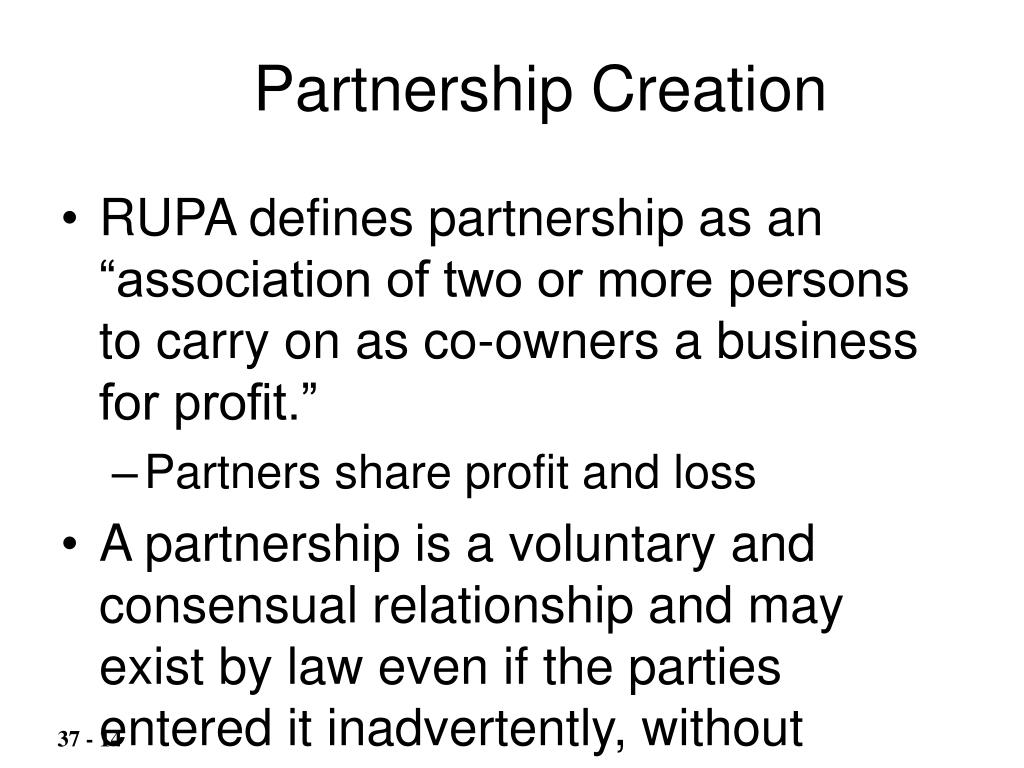 Partnership Creation