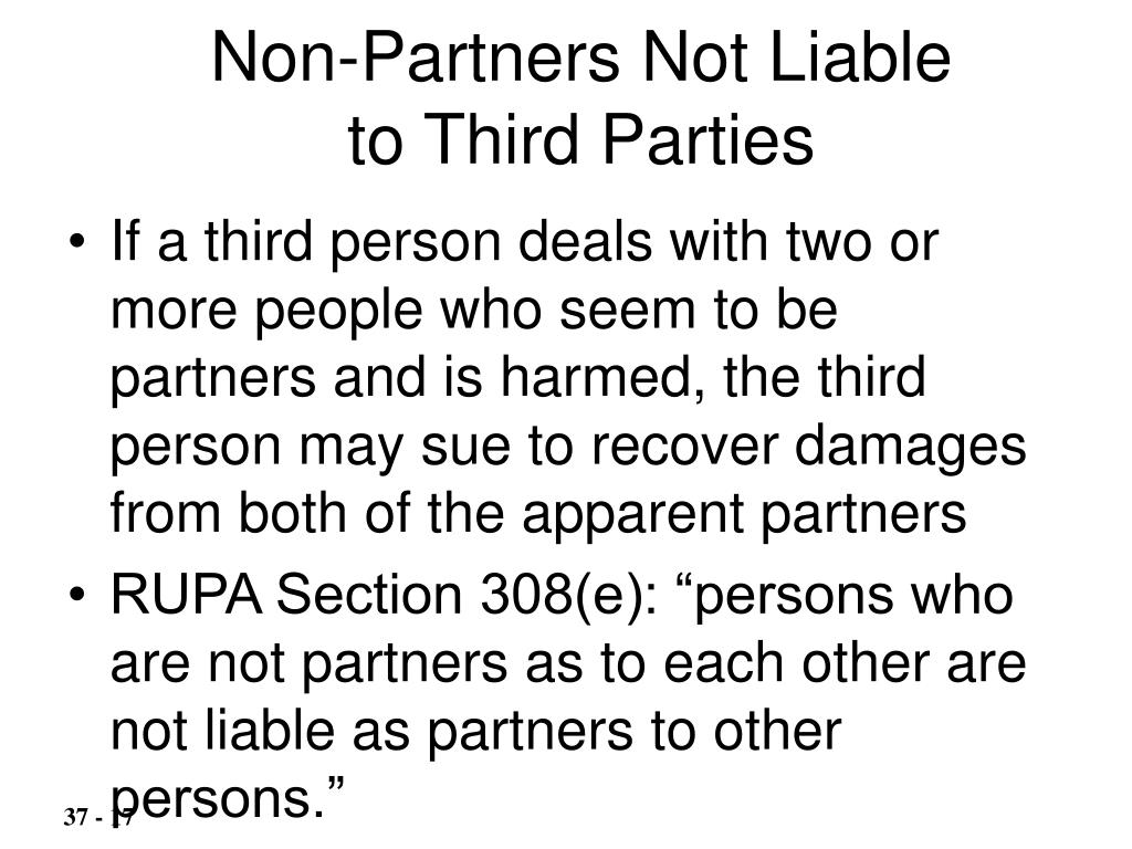 Non-Partners Not Liable