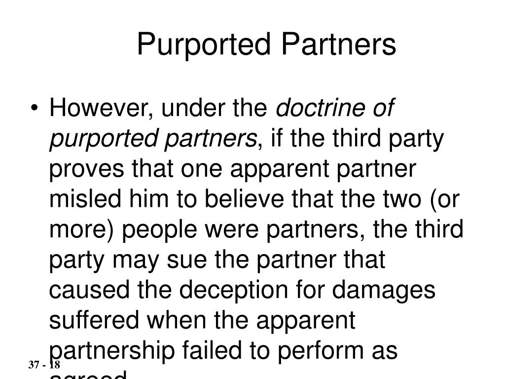 Purported Partners