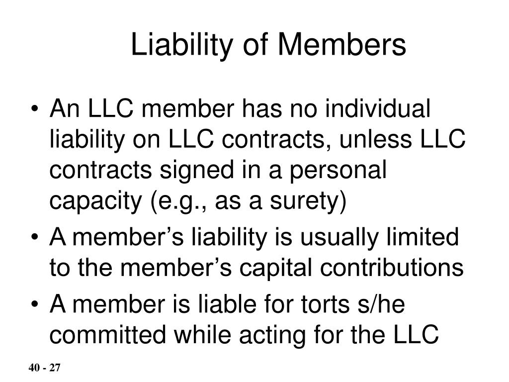 Liability of Members