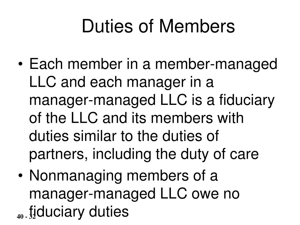 Duties of Members