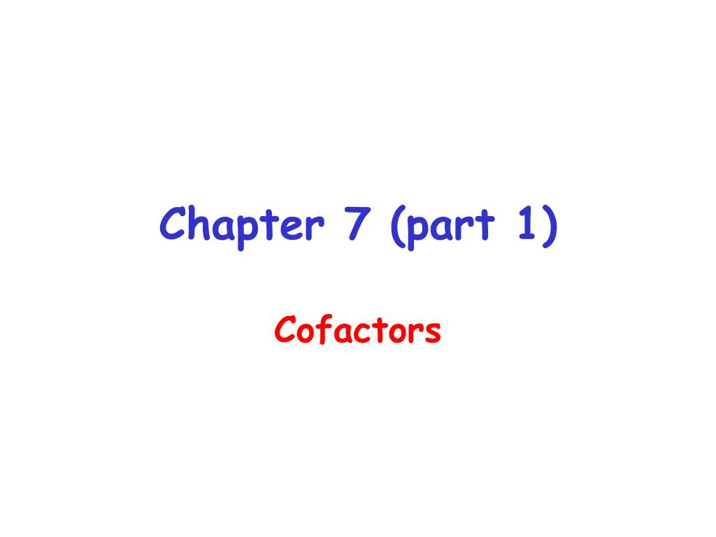 Chapter 7 (part 1)