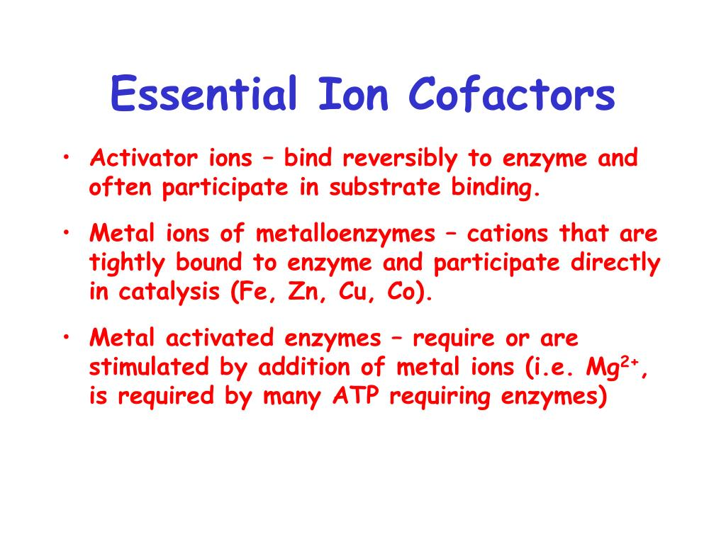 Essential Ion Cofactors