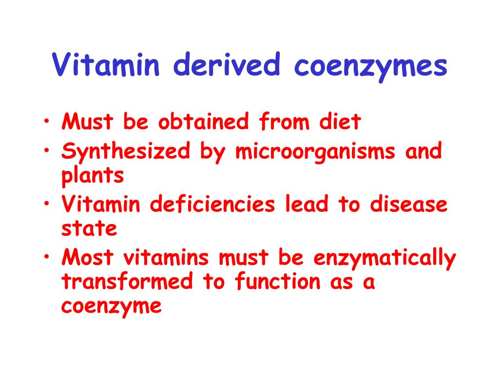 Vitamin derived coenzymes