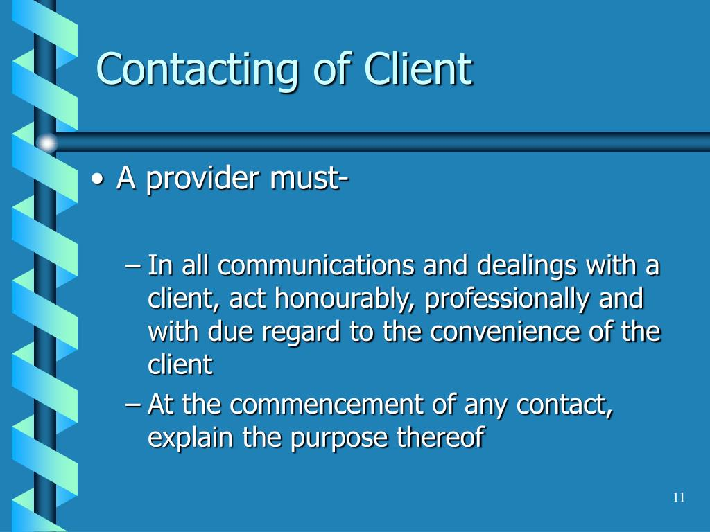 Contacting of Client