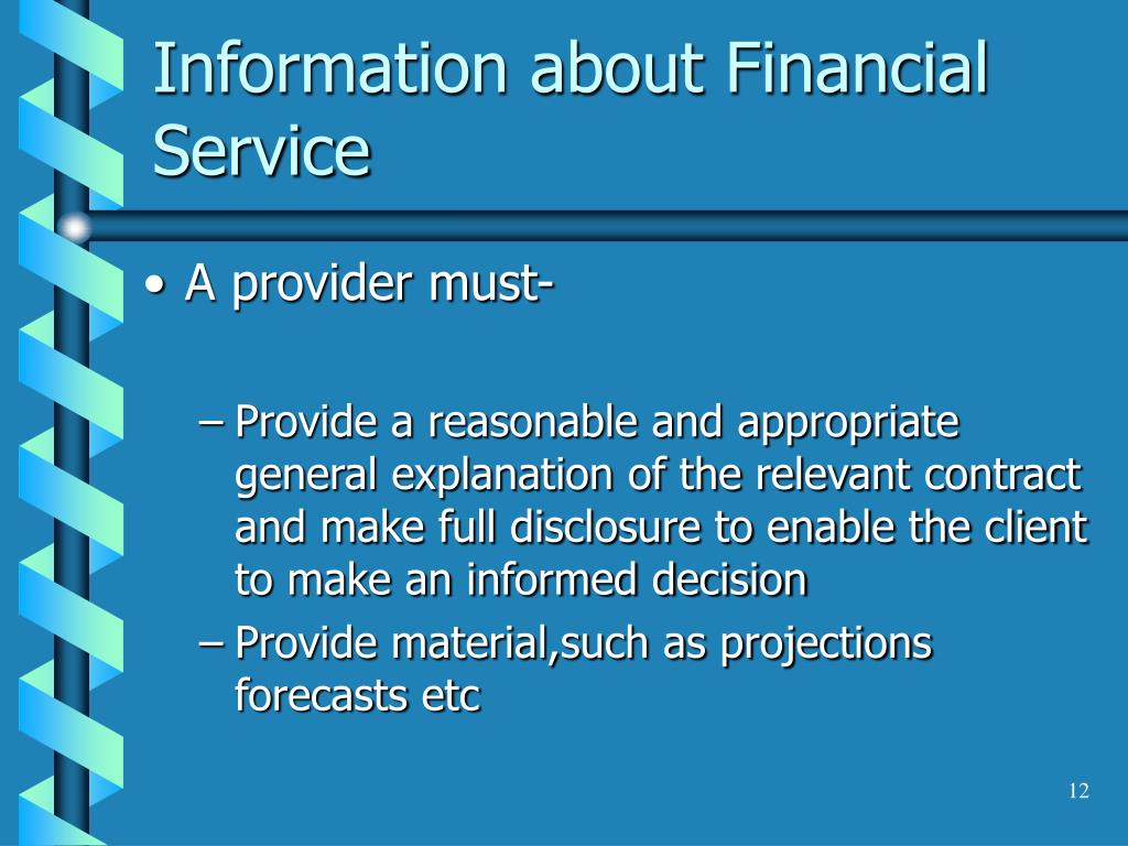 Information about Financial Service