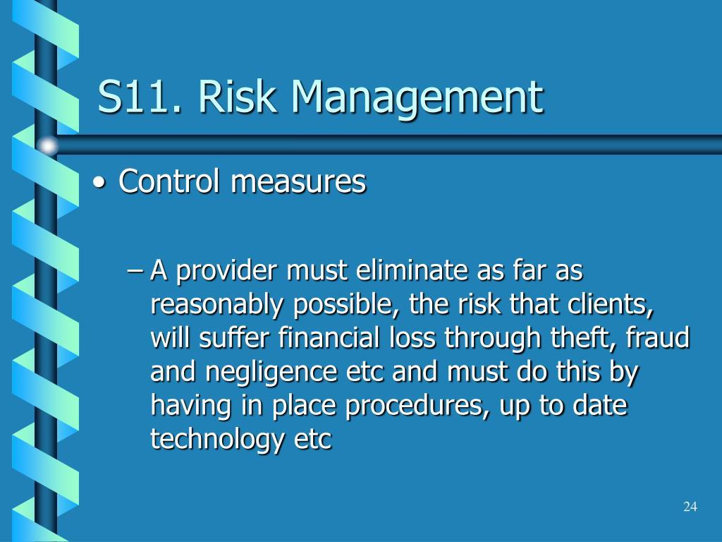 S11. Risk Management