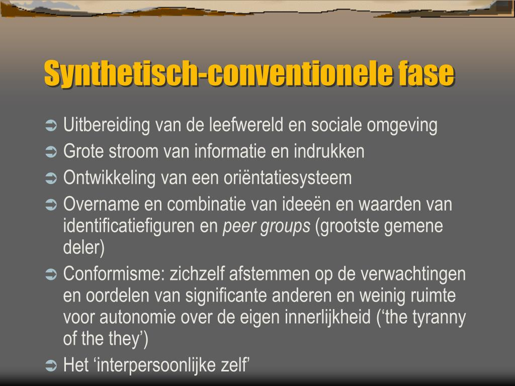 Synthetisch-conventionele fase