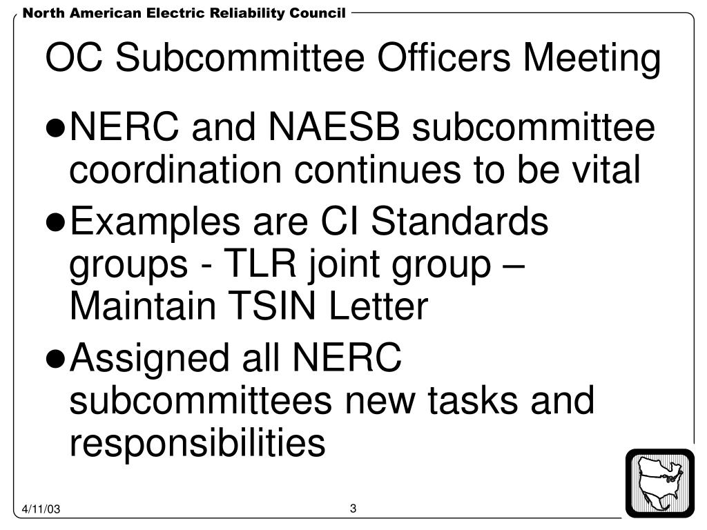 OC Subcommittee Officers Meeting