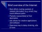 brief overview of the internet9