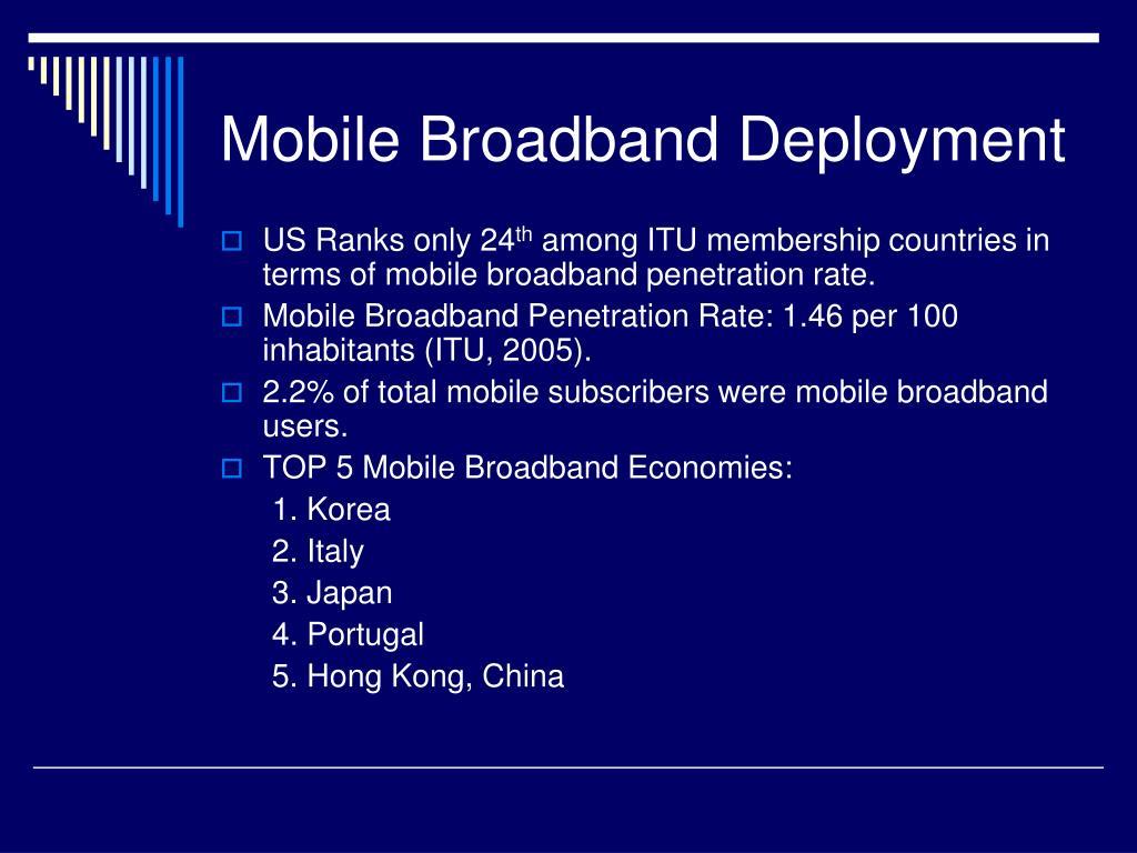 Mobile Broadband Deployment