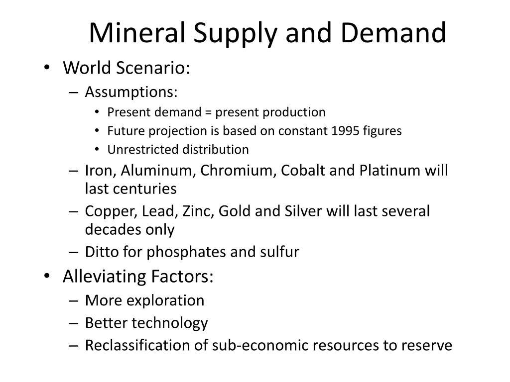 Mineral Supply and Demand