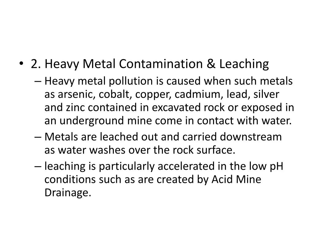 2. Heavy Metal Contamination & Leaching