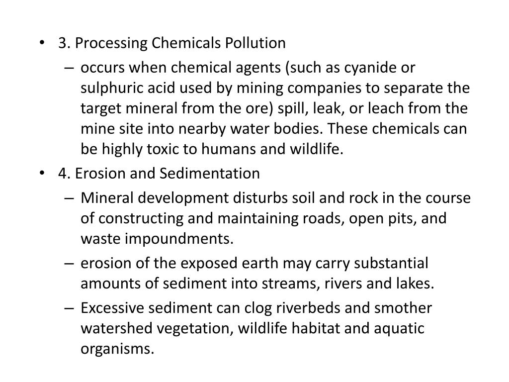 3. Processing Chemicals Pollution