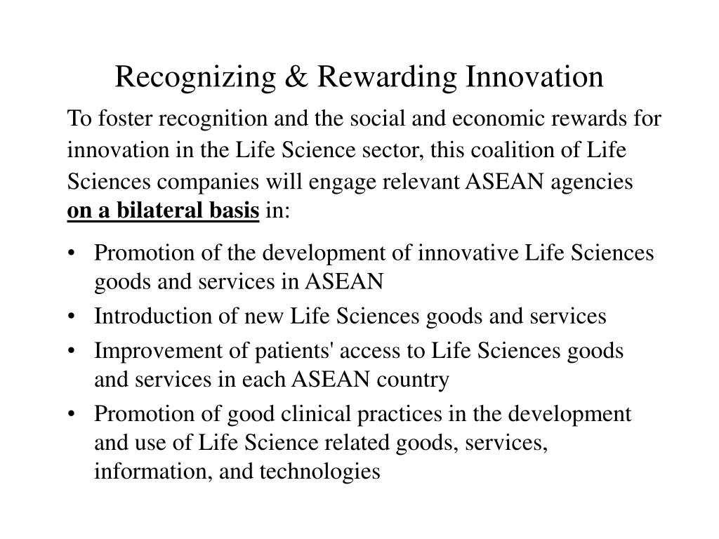 Recognizing & Rewarding Innovation