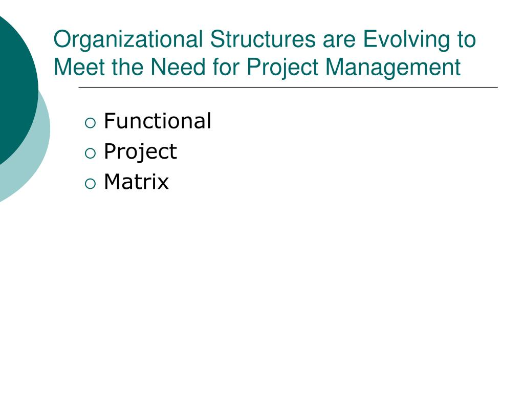 Organizational Structures are Evolving to Meet the Need for Project Management