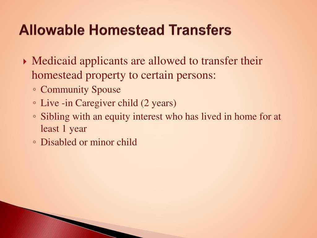 Allowable Homestead Transfers
