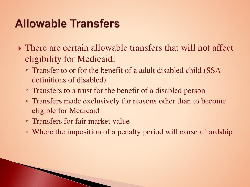 Allowable Transfers