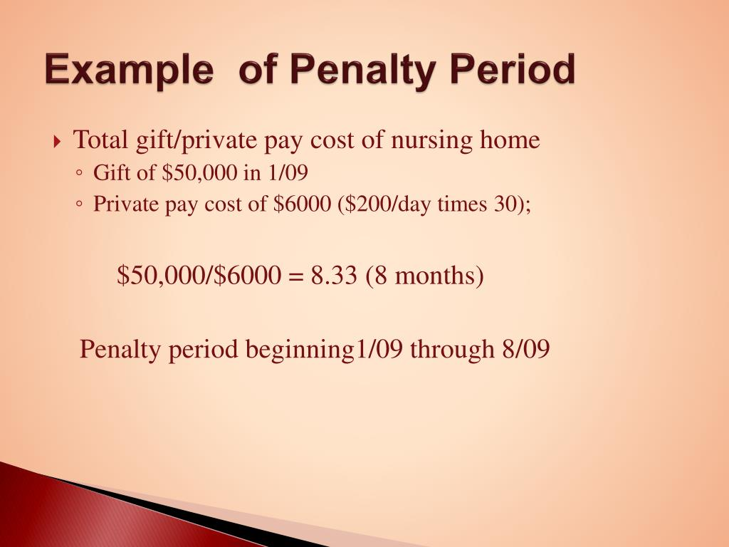 Example  of Penalty Period
