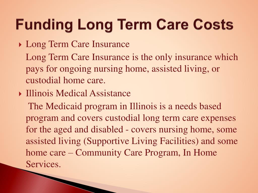 Funding Long Term Care Costs