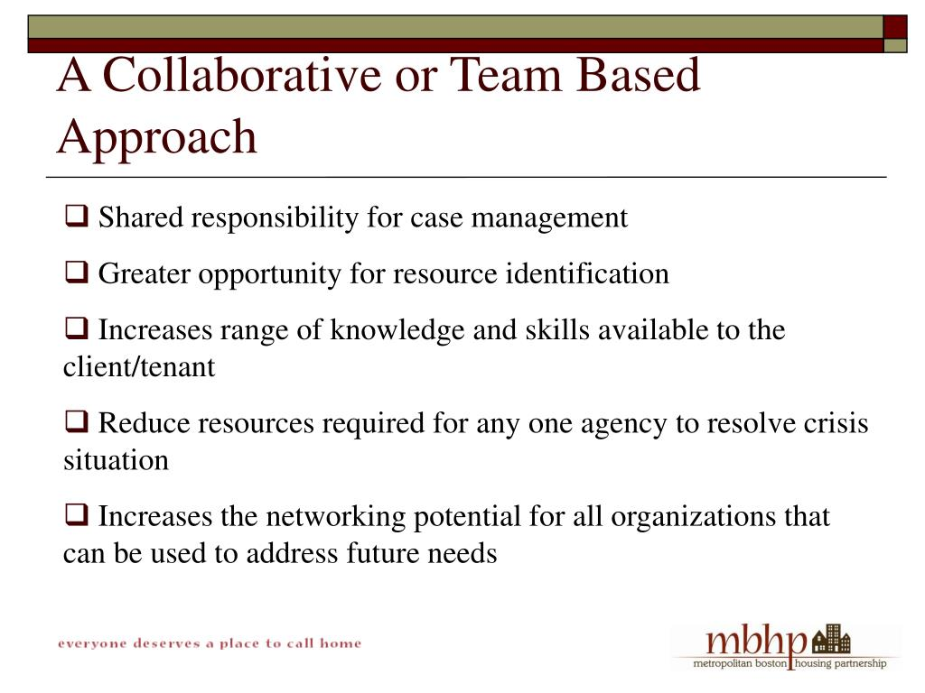 A Collaborative or Team Based Approach