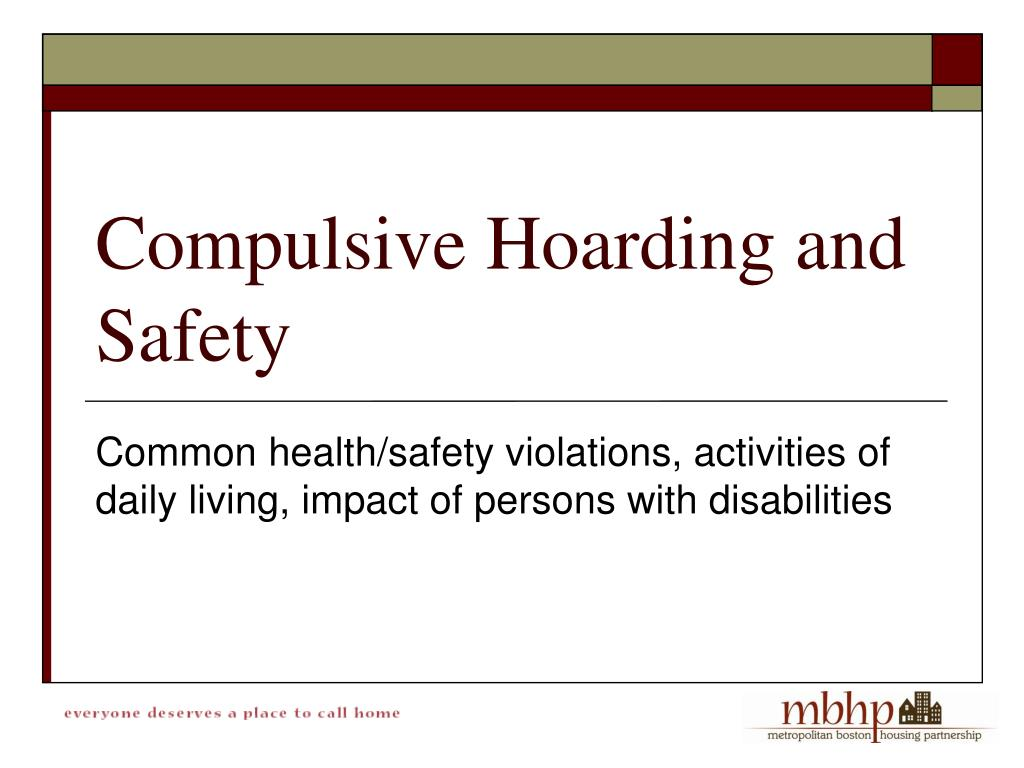 Common health/safety violations, activities of daily living, impact of persons with disabilities